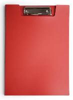 Клипборд-папка A4 Бюрократ пластик. с метал.зажимом, 1,2мм красный купить оптом и в розницу
