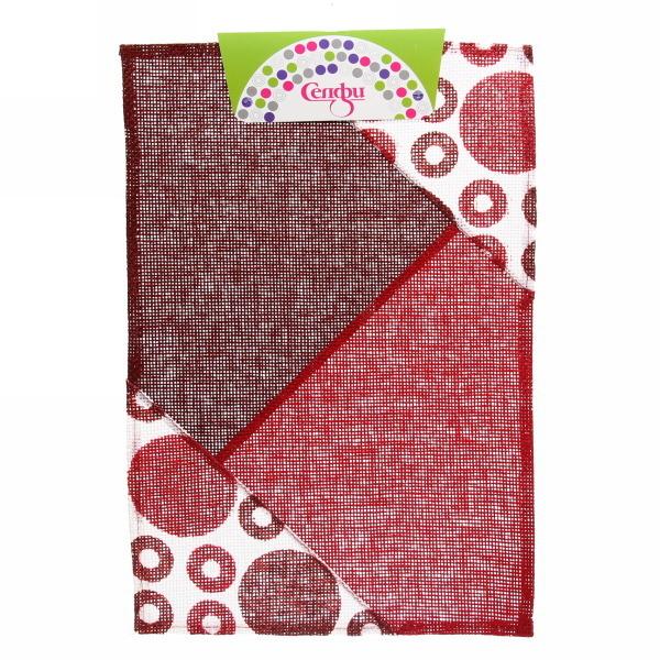 Салфетка на стол 30*45см Геометрия красная Селфи купить оптом и в розницу