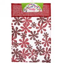 Салфетка на стол 30*45см Цветы красная Селфи купить оптом и в розницу