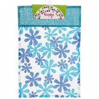 Салфетка на стол 30*45см Цветы голубая Селфи купить оптом и в розницу