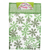 Салфетка на стол 30*45см Цветы зеленая Селфи купить оптом и в розницу
