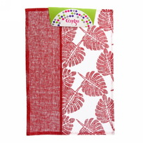 Салфетка на стол 30*45см Листья красная Селфи купить оптом и в розницу