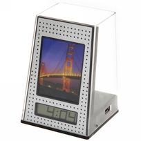Часы многофункциональные (фоторамка, стаканчик для ручек, USB хаб) 009L купить оптом и в розницу