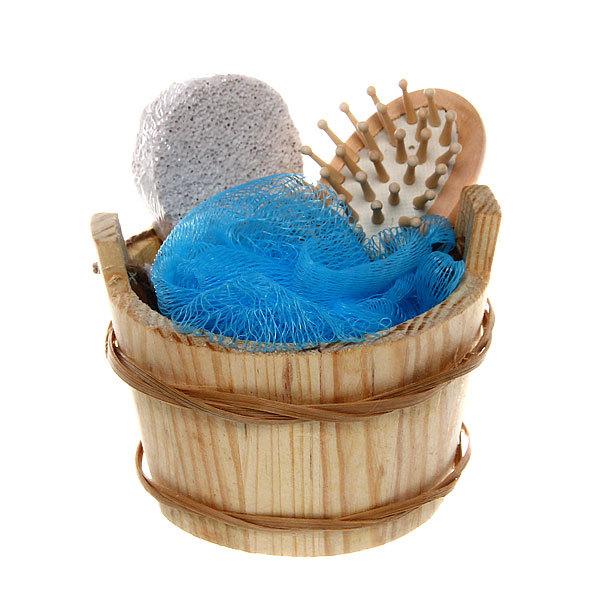 Банный набор в деревянной кадушке ″Аксессуары для бани″ из 3 предмета купить оптом и в розницу