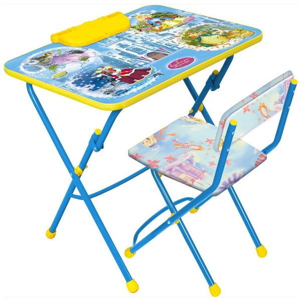 Набор детской мебели ″Никки.Волшебный мир принцесс″ складной, с пеналом, мягкий стул КУ2/16 купить оптом и в розницу
