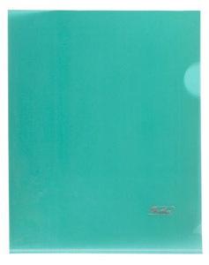 Папка-уголок  180мк  А5 Hatber пластик. зеленая купить оптом и в розницу