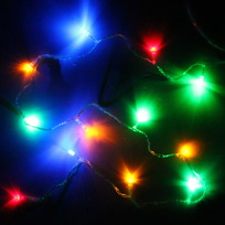 Гирлянда светодиодная 1,5м,12 ламп LED, Мультицвет, 8 реж, прозр.пров. купить оптом и в розницу