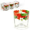 Набор стаканов 6шт 250мл Ода ″Красная смородина″ круговая деколь низкие купить оптом и в розницу