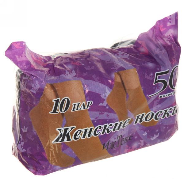 Носки женские 20 den Иж Текс (10 пар), цвет черный купить оптом и в розницу