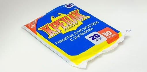 пакеты д/мусора с ручками 30л/20шт. (крепак) 1*50 купить оптом и в розницу