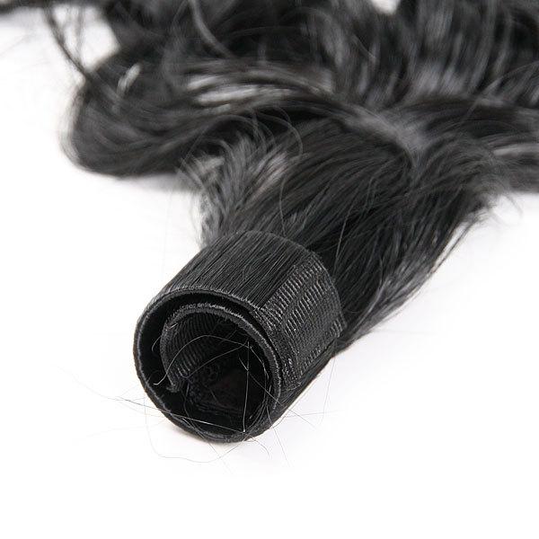 Волосы накладные ″Хвост кудрявый″ брюнетка 34см 517-2 купить оптом и в розницу