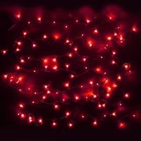 Гирлянда светодиодная 5,2м, 50 ламп LED, Красный, 8 реж, прозр.провод. купить оптом и в розницу