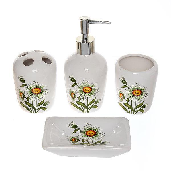Набор для ванной из 4-х предметов керамический 29550 купить оптом и в розницу
