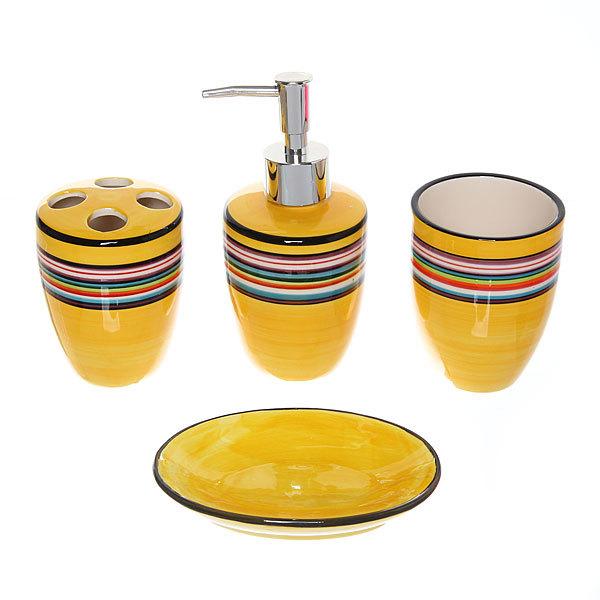 Набор для ванной из 4-х предметов керамический JW014257 купить оптом и в розницу