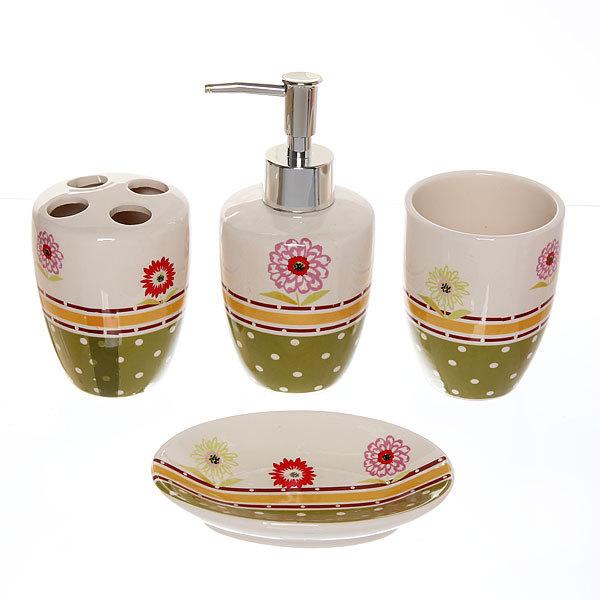 Набор для ванной из 4-х предметов керамический JW014666 купить оптом и в розницу