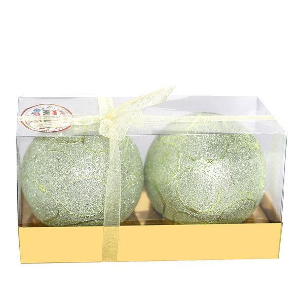 Новогодние шары ″Снежный лес″ 8см (набор 2шт.) купить оптом и в розницу