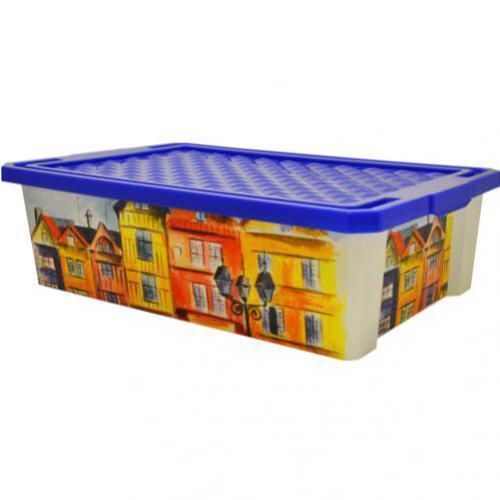 Ящик дляхранения Optima Город 30л*4 купить оптом и в розницу