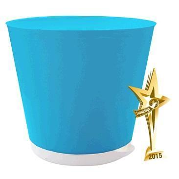 Горшок для цветов Крит D 200 mm с системой прикорневого полива 3,6л светло-сини*12 купить оптом и в розницу