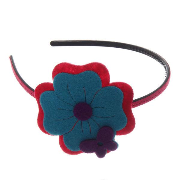 Ободок ″Иветта″ цветочек (фетр) 689-8 купить оптом и в розницу