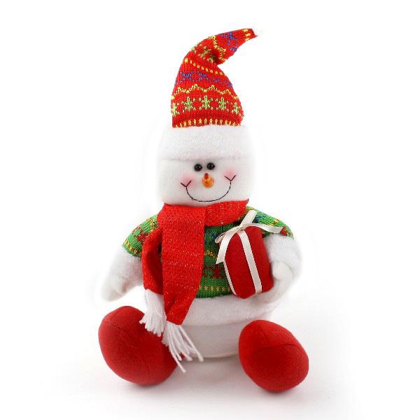 Мягкая игрушка Снеговик 26см купить оптом и в розницу