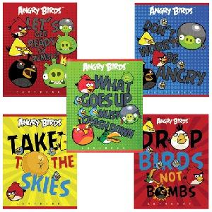 """Тетрадь 40л.кл.скрепка HATBER, """"Angry Birds"""" купить оптом и в розницу"""