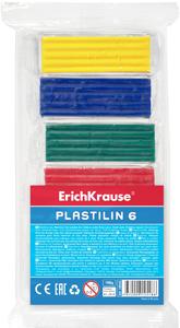 Пластилин  6 цв.108г Erich Krause в пленке купить оптом и в розницу