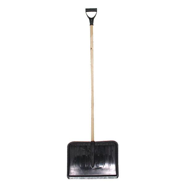 Лопата снеговая 480*360 ″Селфи″ пластик, с планкой, с черенком и V-ручкой (ф30мм) купить оптом и в розницу