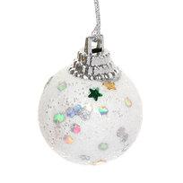 Новогодние шары 3 см ″Звездочка″ набор 12 шт, белый купить оптом и в розницу