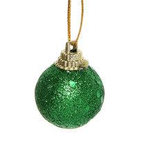 Новогодние шары 3 см ″Изумруд″ набор 12 шт, зеленый купить оптом и в розницу