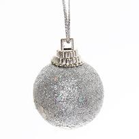 Новогодние шары 3 см ″Серебро″ набор 12 шт купить оптом и в розницу