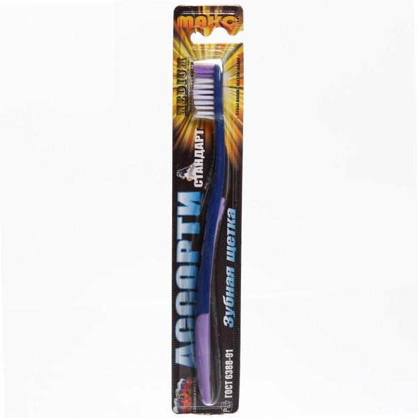Зубная щетка средней жесткости Ассорти Стандарт купить оптом и в розницу