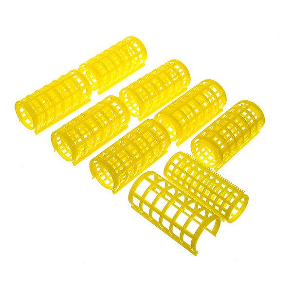 Бигуди пластмассовые с зажимом 8шт, цвет микс, d=30мм купить оптом и в розницу