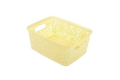 Корзинка кружевная мини  желтый *36 купить оптом и в розницу