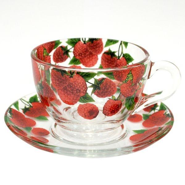 Набор чайный 12пр 215мл Бейзик МАЛИНА круговая деколь (1/4) купить оптом и в розницу