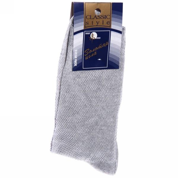 Носки мужские Золотая игла, сетка, цвет серый р. 27 купить оптом и в розницу