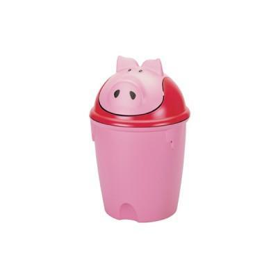 """Контейнер для мусора """"Свинка""""Curver розовый/4 шт 265*265*385 купить оптом и в розницу"""