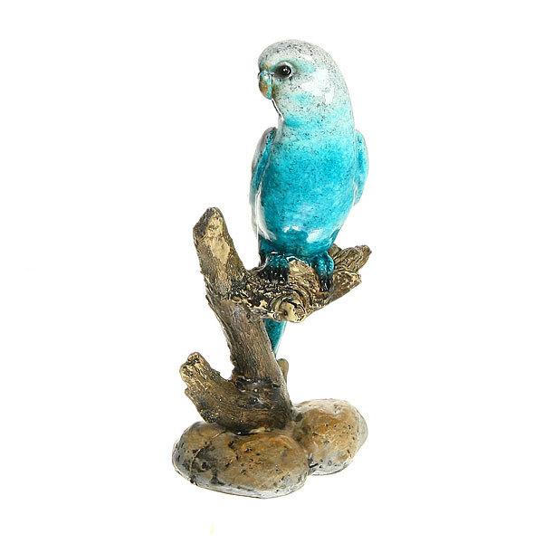 Статуэтка из полистоуна ″Волнистый попугайчик на ветке″ 17*8см 3138-2 купить оптом и в розницу