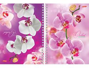 """Тетрадь-перевертыш 80л.кл.гребень HATBER, """"Орхидея"""",  тв.обложка купить оптом и в розницу"""