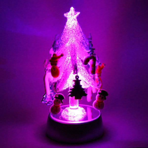 Фигурка с подсветкой ″Ёлочка заснеженная с игрушками″ 13,5см PVS купить оптом и в розницу