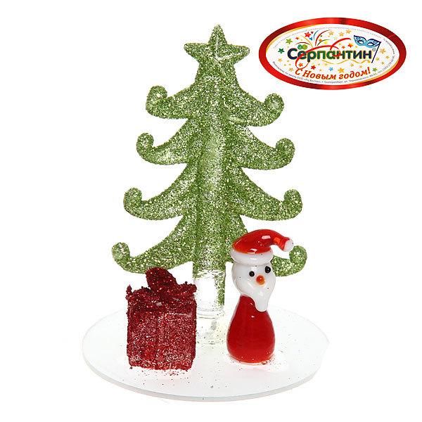 Фигурка ″Дед Мороз с подарком у ёлочки″ 8см купить оптом и в розницу