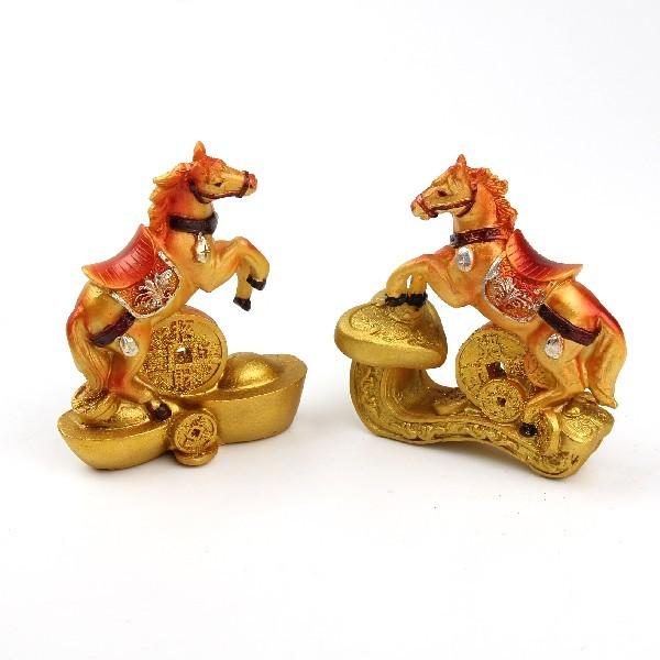 Фигурка ″Золотой конь удачи″ 9,5*9,5см 85211 купить оптом и в розницу