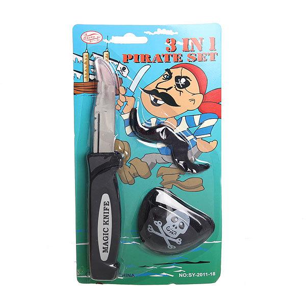 Карнавальный аксессуар ″Пират″ нож (при ударе складывается) +наглазник купить оптом и в розницу