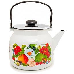 Чайник эмалированный 3,5л ″Фруктовый микс″ купить оптом и в розницу