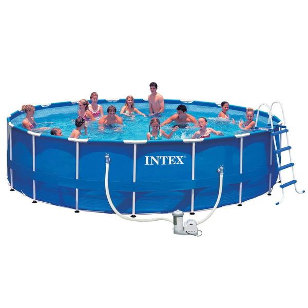 Бассейн каркасный Metal Frame 549*122 см + 4 аксессуара Intex (28252) купить оптом и в розницу