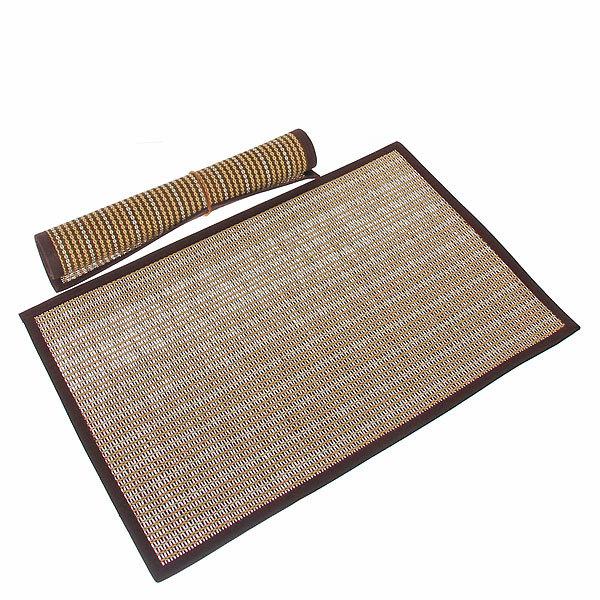Салфетка на стол 30*45см плетеная, с кантом кофейная две штуки купить оптом и в розницу