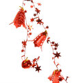Бусы на ёлку красные 1м ″Колокольчики со звездами″ купить оптом и в розницу