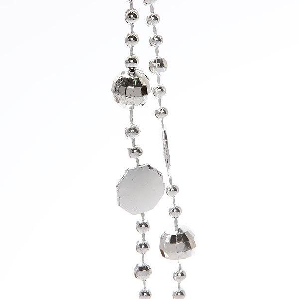 Бусы на елку серебро 4м ″Бриллианты″ купить оптом и в розницу