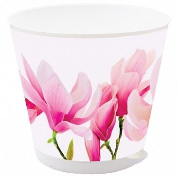 Горшок для цветов Крит D 200 mm с системой прикорневого полива 3,6 л Орхидеи*12 купить оптом и в розницу
