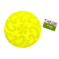 Прихватка силиконовая 17 см круглая Цветы Селфи купить оптом и в розницу