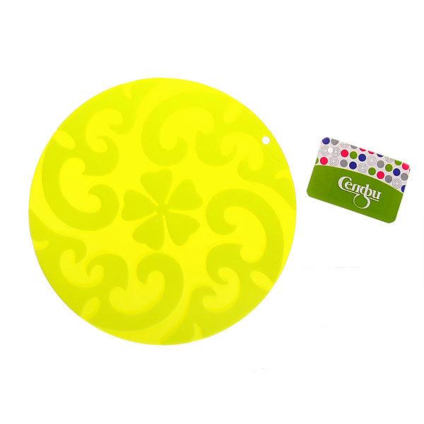 Прихватка силиконовая 17 см круглая Цветы НЕ-035 Селфи купить оптом и в розницу